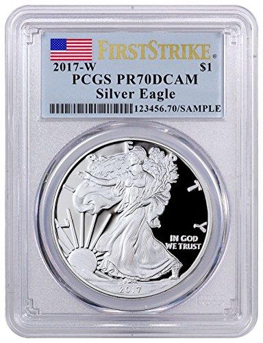 2017 1 oz Silver U.S. American Eagle (Flag Label) 1 Dollar PR70 PCGS
