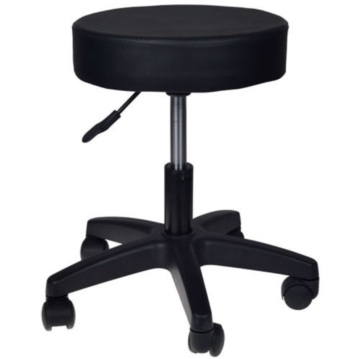 Amazon: Black Stool Hydraulic Step Adjustable Kitchen Vanity Kids Chair  Facial Salon Massage Spa Dental Swivel Rolling Chair: Kitchen & Dining