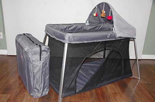 Portable Crib Front And Top Baby Access With Sun Shade
