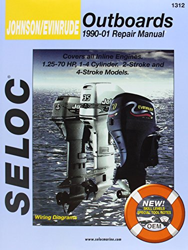 Johnson/Evinrude Outboards, All In-Line Engines, 2-4 Stroke, 1990-01 (Seloc's Johnson/Evinrude Outboard Tune-Up and Repair Manual) - Johnson Outboard Motor Service Manual
