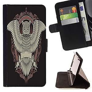 Dragon Case - FOR Samsung Galaxy S4 Mini i9190 - Death comes to all - Caja de la carpeta del caso en folio de cuero del tir¨®n de la cubierta protectora Shell
