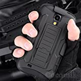 Galaxy S4 Case, Cocomii Robot Armor NEW [Heavy Duty] Premium Belt Clip Holster Kickstand Shockproof Hard Bumper Shell [Military Defender] Full Body Dual Layer Rugged Cover Samsung I337 I9500 (Black)