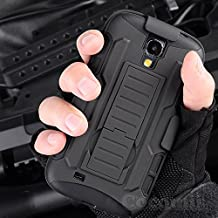 Galaxy S4 Mini Case, Cocomii Robot Armor NEW [Heavy Duty] Premium Belt Clip Holster Kickstand Shockproof Hard Bumper Shell [Military Defender] Full Body Dual Layer Rugged Cover Samsung I9190 I9195 (Black)