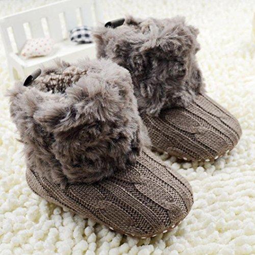 ❆HUHU833 Kinder Mode Baby Stiefel Soft Sole, Keep Warm Schnee Stiefel, Kleinkind Stiefel Warm Schuhe (0-18 Month) Braun