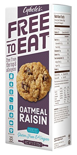 Cybele's Free to Eat Cookies, Oatmeal Raisin, 6 Ounce (Pack of 6) (Cybele Cookies)