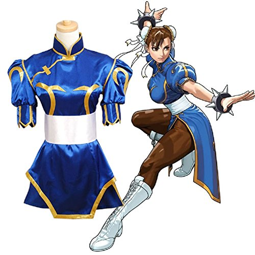 Horries Women's Street Fighter Chun Li Cosplay Costume