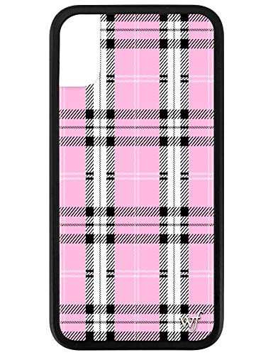 Wildflower Limited Edition iPhone Case for iPhone X and XS (Pink Plaid) (Flower Apple Iphone)