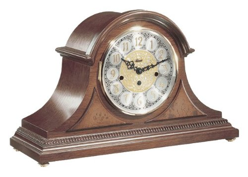 Amelia Tambour Style Mantel Clock in Elegant Cherry