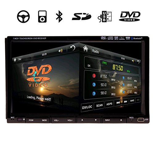 High Def 7 Inch In Dash 2 Din Car Stereo DVD Player GPS Navigation 3D Bluetooth Double 2Din In Dash Deck Car DVD Radio Player 6.2