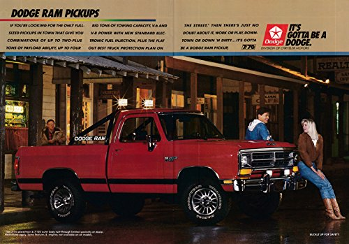 (1987 Dodge Ram Pickup Truck-V-6 or V-8- Fuel Injected-Original 2 Page Magazine Ad)