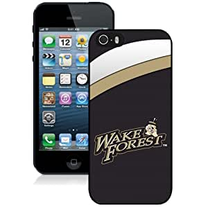 Beautiful Designed With NCAA Atlantic Coast Conference ACC Footballl Wake Forest Demon Deacons 4 Protective Cell Phone Hardshell Cover Case For iPhone 5S Phone Case Black