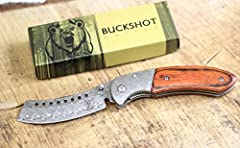 BuckShot Knives PBK219 Series Blade Made of 3CR13 Stainless Steel, Cleaver Razor Blade, Razor Sharp. Includes Belt Clip.