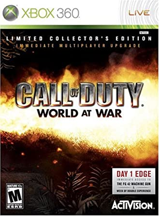 Amazon Com Call Of Duty World At War Collector S Edition Xbox