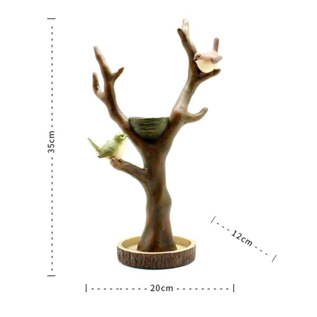Jewelry Rack-Resin Bird Jewelry Jewelry Crafts Dressing Table Creative Decorations Ornaments Key Storage Gifts Ornaments for Home 201235 (Color : A)