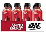 OPTIMUM NUTRITION ESSENTIAL AMINO ENERGY Ready-To-Drink, Fruit Punch, Preworkout and Essential Amino Acids with Green Tea and Green Coffee Extract, 12 Count For Sale