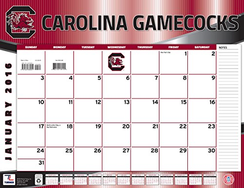 "Turner South Carolina Gamecocks 2016 Desk Calendar, January-December 2016, 22 x 17"" (8061488)"