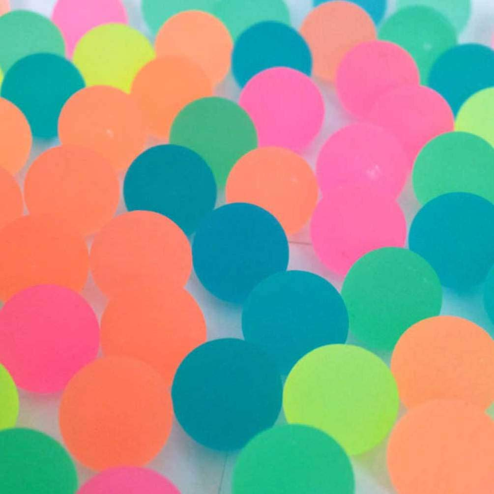 Colore Casuale NUOBESTY Palline Rimbalzanti Palline Rimbalzanti in Gomma da 30 Mm Bagliore nel Buio Forniture per Feste per Ripieni per Borse da Festa Ricompense in Classe 20 Pezzi