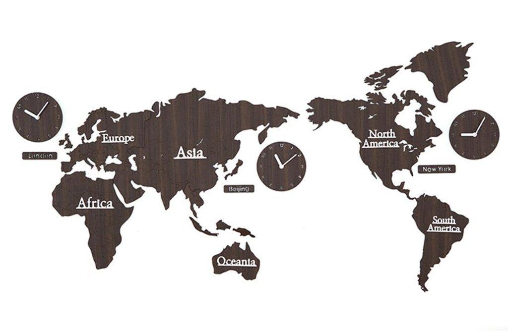 TXXM 世界地図ウォールクロッククリエイティブリビングルームモダンな装飾パーソナライズドホームテーブル (色 : C) B07F82ZW41 C C
