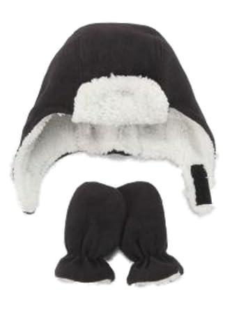 Amazon.com: Nice Caps Infant Toddler Boys Black Fleece Trapper Hat ...