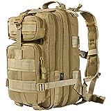 FREE SOLDIER Tactical Backpack Military Rucksacks Molle Army Bug Assault Pack Backpack Waterproof Backpacks(Coyote 45L)