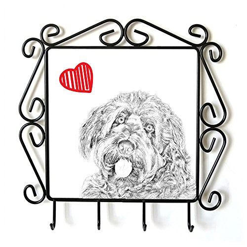Otterhound, clothes hanger with an image of a dog and heart