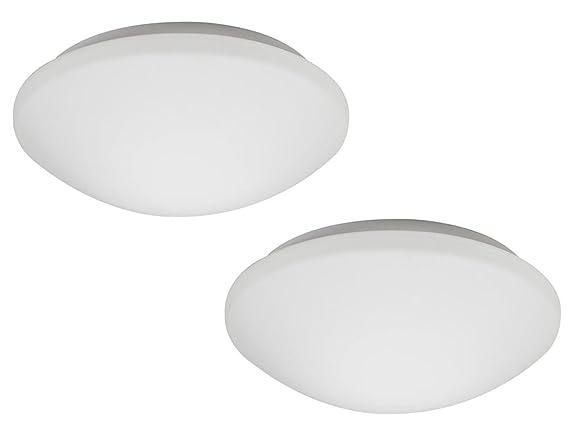 Plafoniera Con Sensore Incorporato : Set lampade led da soffitto bianco con sensore di movimento