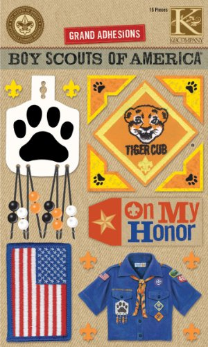 K&Company Boy Scout Tiger Cub Grand Adhesions Stickers (Stickers Tiger)
