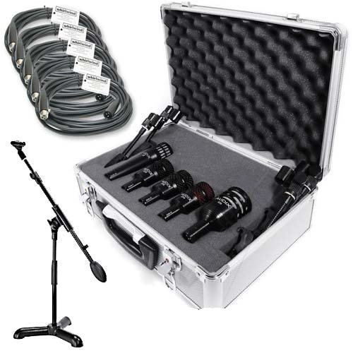 Audix DP5A Professional 5-piece Drum Mic Package (Case Tom Rack)