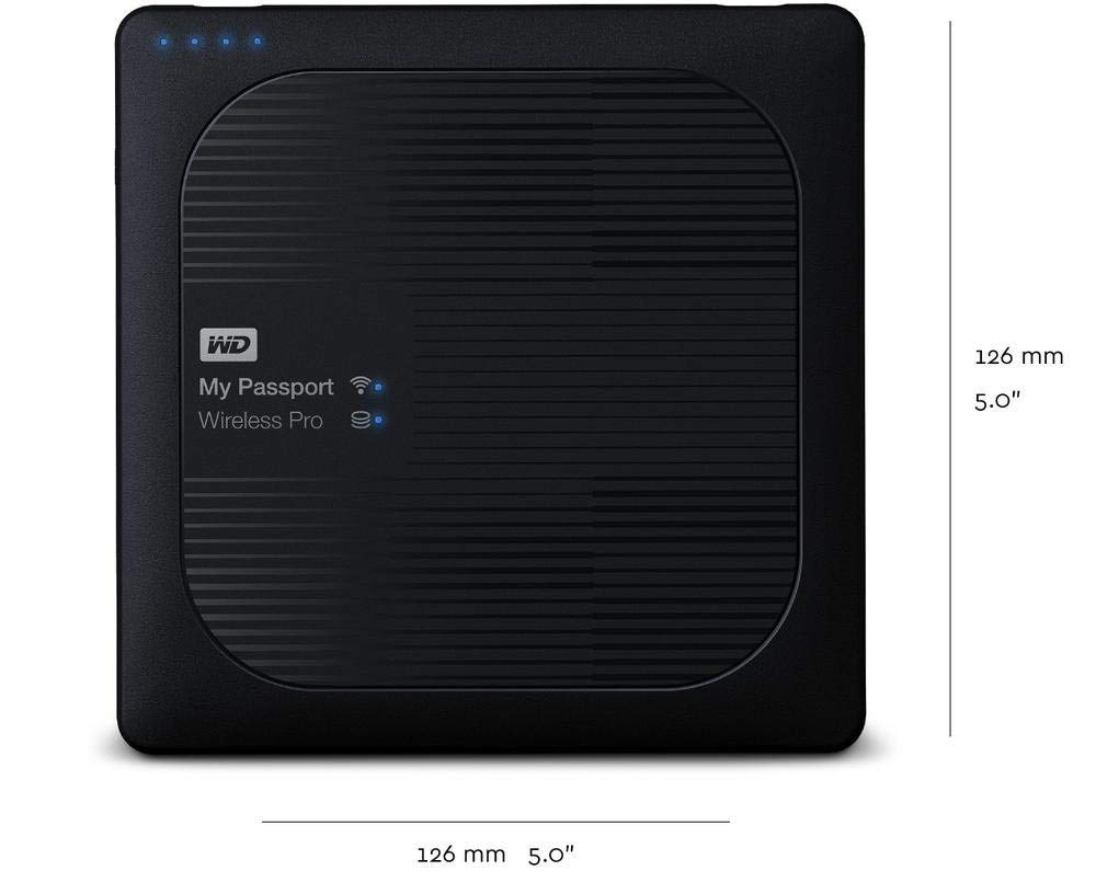 WD My Passport Wireless Pro con Wi-Fi AC, SD y USB 3.0 Disco Duro Externo port/átil de 3 TB