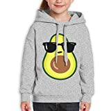 GLSEY Avocado With Sunglasses Youth Soft Casual Long-Sleeved Hoodies Sweatshirts