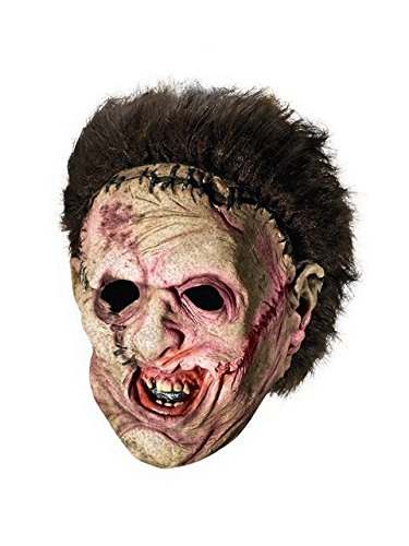 Leatherface Mask (Deluxe Leatherface 3/4 Mask with Hair Costume)