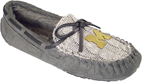 Campus Cruzerz Womens Ncaa Knit Slipper Moc,