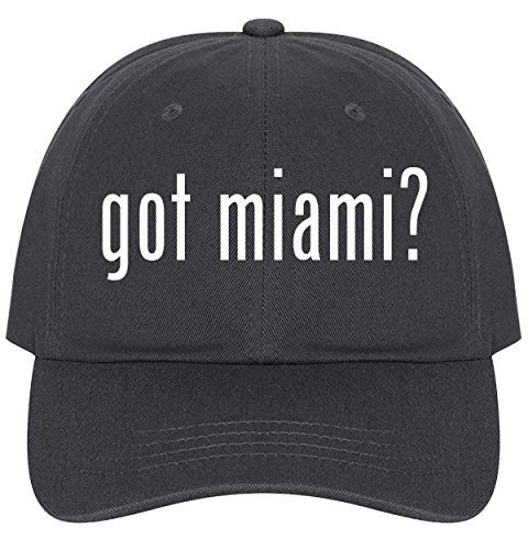 The Town Butler got Miami? - A Nice Comfortable Adjustable Dad Hat Cap, Dark Grey