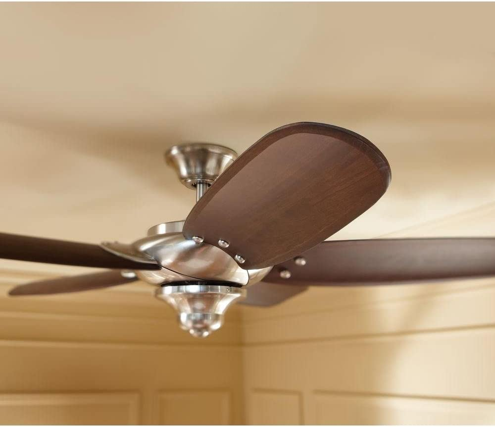 Home Decorators Collection Altura 56 In Indoor Brushed Nickel Ceiling Fan With Remote Control Amazon Com