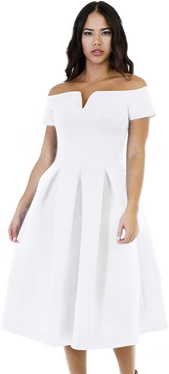 Women's Plus Size Vintage Cocktail Wedding Midi Dress