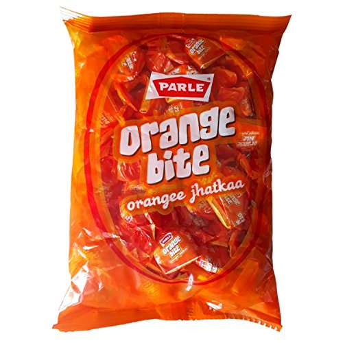 Parle Candy - Orange bite, 289 gram Pouch, orangee jhatkaa, India India Sweet Fruit