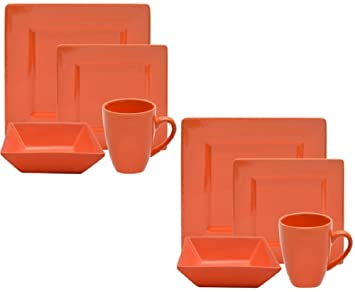 Amazon.com | 10 Strawberry Street Nova Square 16-Piece Dinnerware ...