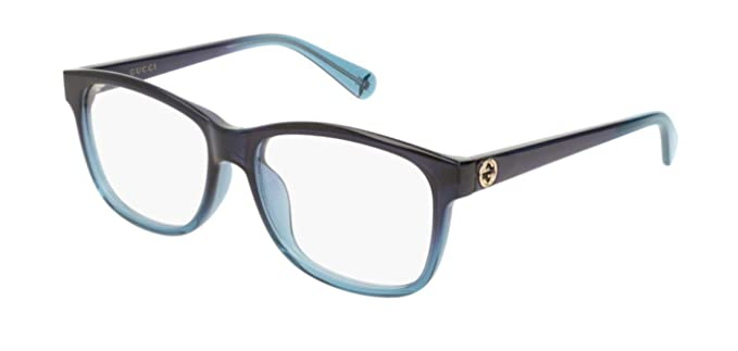 1e5eaa86d37 Image Unavailable. Image not available for. Color  Gucci GG0374OA 004  Eyeglasses Dark Blue ...