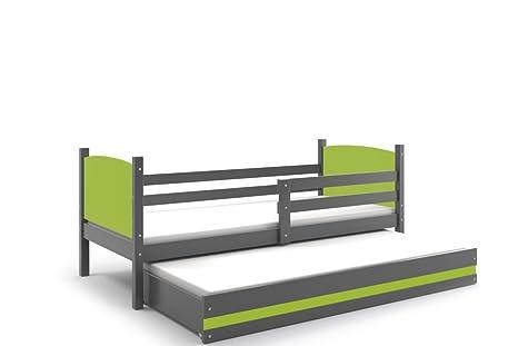 Interbeds Tami niños camas nido con Pull Out, grafito de madera para niños camas +