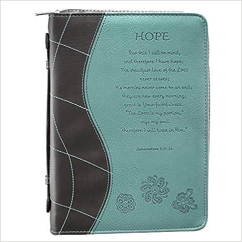 Lamentations 3:21-24 Medium Book Cover Turquoise Hope Bible