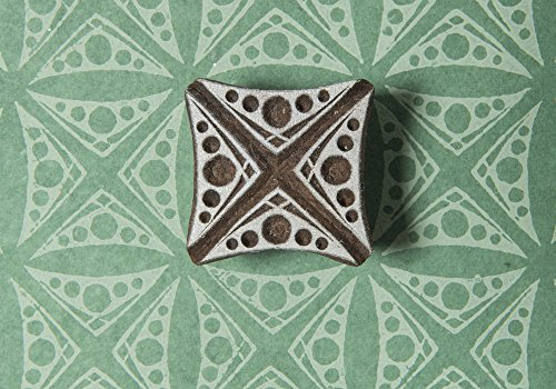 Blockwallah Dotted Square Wooden Block (Dotted Batik)
