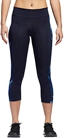 adidas Womens Legend Ink Climalite Mid Rise 34 Tights