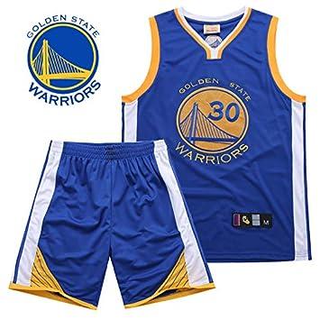 Hombre Ropa de Baloncesto NBA Warriors No. 30 Curry Bordado ...