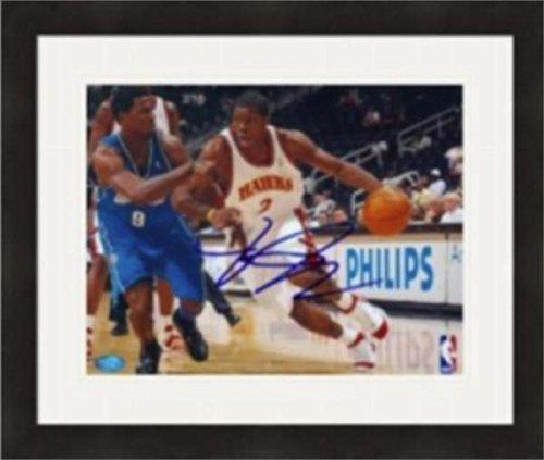 Autographed Joe Johnson (Atlanta Hawks) Photo - 8x10 Matted & Framed - Autographed NBA Photos (Joe Johnson Photo)