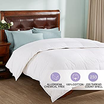 all season white down comforter 100 cotton cover fullqueen white