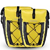 RockBros Bike Pannier Waterproof Large Capacity Cycling Rear Saddle Bag for Mountain Road Bike (2 Yellow Pack)