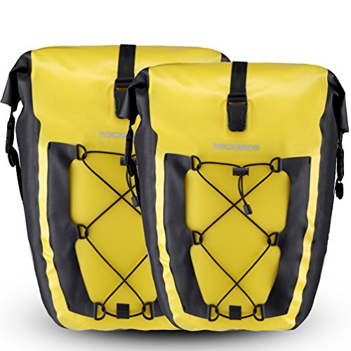 r Waterproof Large Capacity Cycling Rear Saddle Bag for Mountain Road Bike (2 Yellow Pack) ()