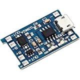 Icstation 10pcs TP4056 Micro USB 5V 1A 18650 Lithium Battery Charger Board with Over Charge Discharge Protection