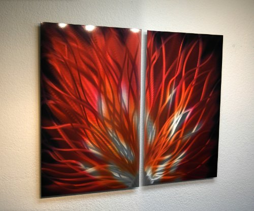 Metal Wall Art, Modern Home Decor, Abstract Wall Sculpture Contemporary- Fiamma