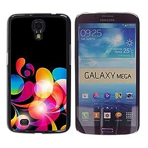 Caucho caso de Shell duro de la cubierta de accesorios de protección BY RAYDREAMMM - Samsung Galaxy Mega 6.3 I9200 SGH-i527 - Neon Colors Wallpaper Random Pattern Red